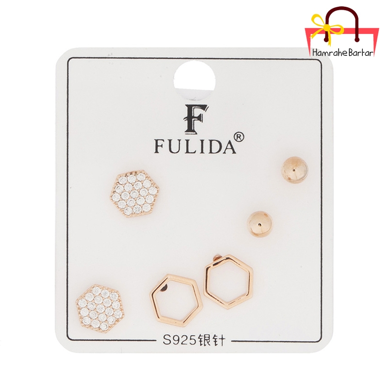 گوشواره FULIDA بسته 3 عددی