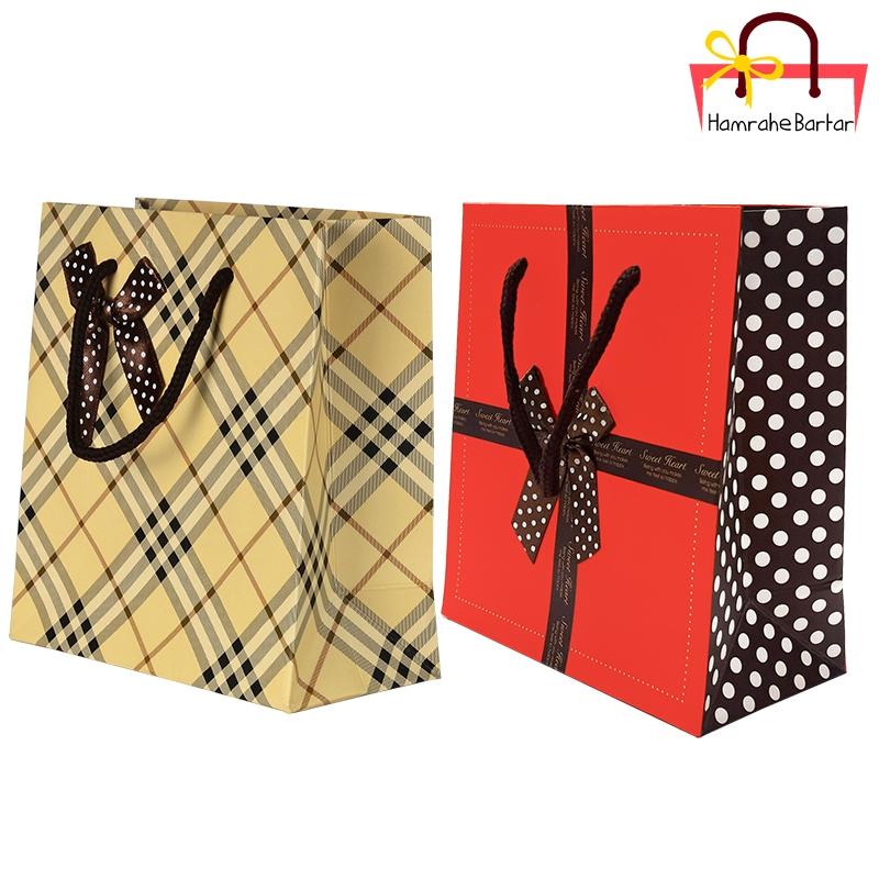 پاکت هدیه سایز 1 کد 3469 بسته 2 عددی