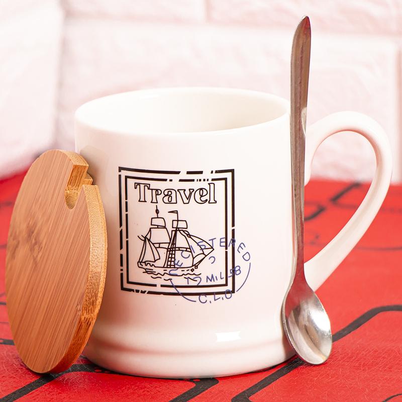 ماگ طرح قایق در چوبی کد 4560