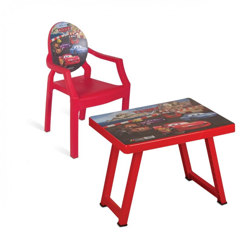 میز و صندلی کودک طرح مک کویین کد 4934