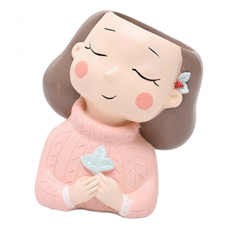 گلدان طرح دختر پاییزی کد 5409