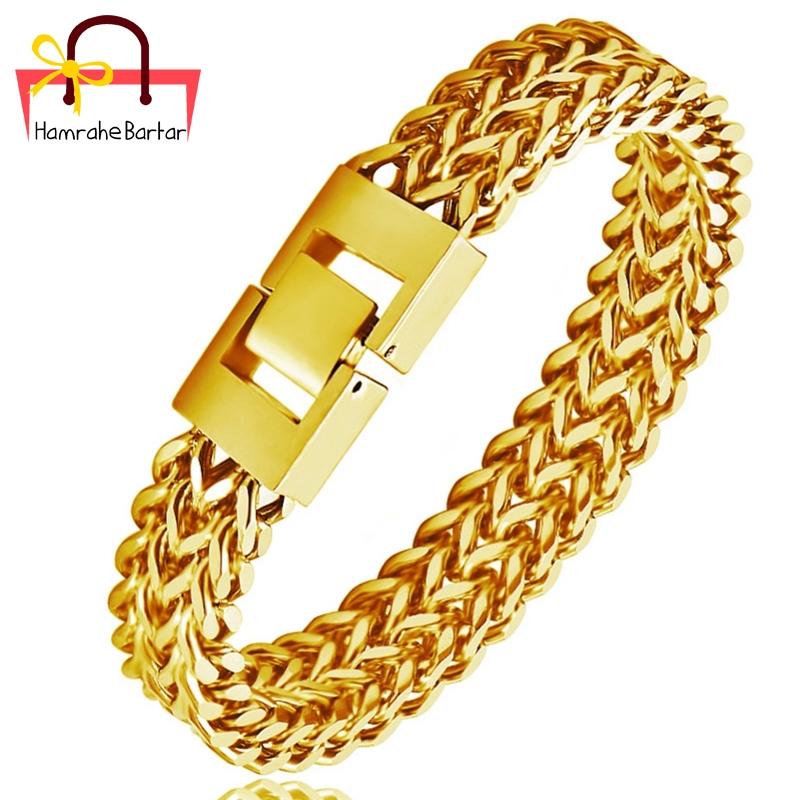 دستبند بولگاری طرح زنجیرِ بافت