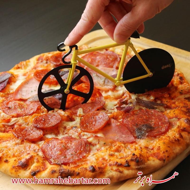 پیتزا بر فانتزی طرح دوچرخه