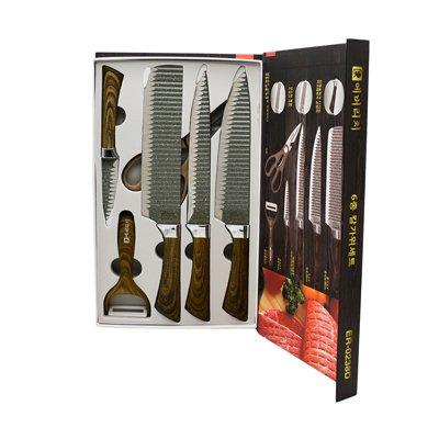 ست چاقو آشپزخانه 6 پارچه AL-751