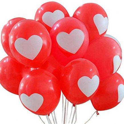 بادکنک 50 تایی طرح قلب