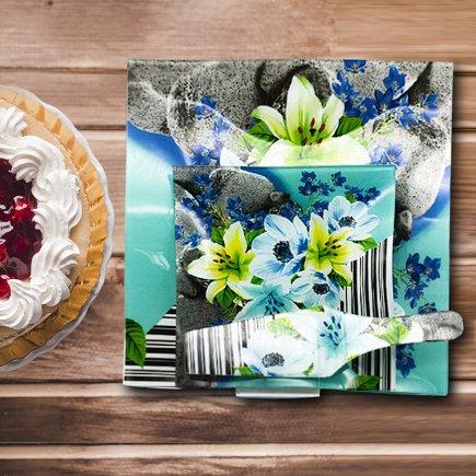سرویس کیک خوری 8 پارچه کد 2162