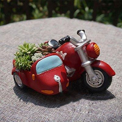 گلدان طرح موتورسیکلت کابین دار