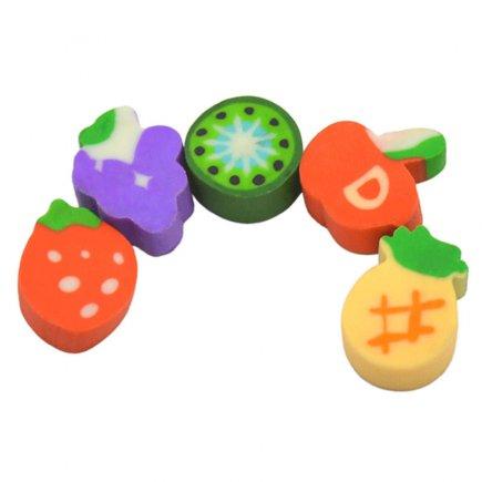 پاک کن طرح میوه کد 3057  بسته 5 عدد