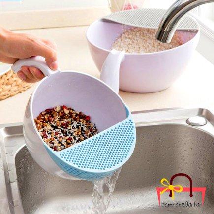 آبکش برنج شوی دسته دار