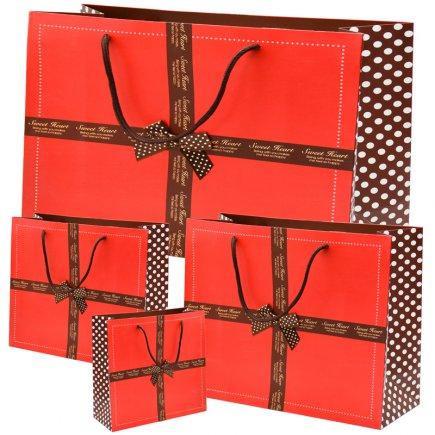پاکت هدیه سایز 1-2-3-4 کد 3462 بسته 4 عددی