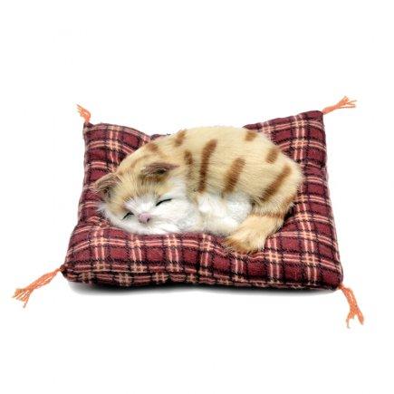 عروسک مدل گربه خوابالو کد 3474 طول 14 سانتی متر