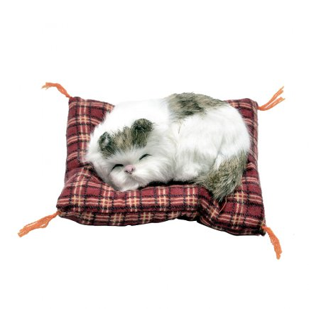 عروسک مدل گربه خوابالو کد 3476 طول 14 سانتی متر