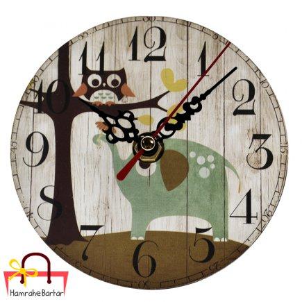 ساعت رومیزی طرح جنگل کد 3489
