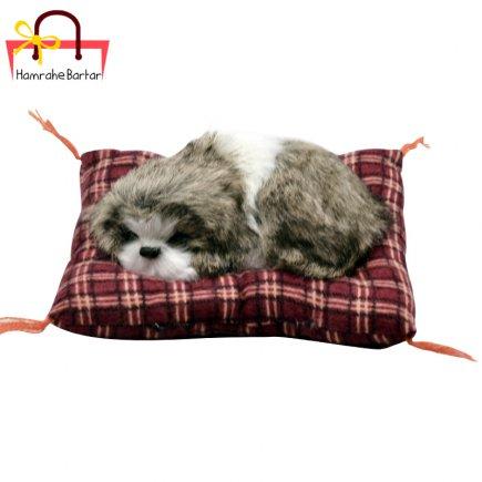 عروسک مدل سگ خوابالو کد 3506 طول 14 سانتی متر