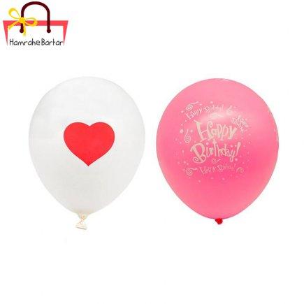 بادکنک مدل Happy birth day 17 بسته 45 عددی