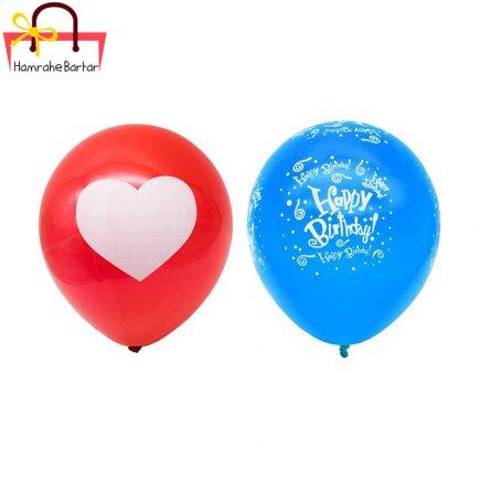 بادکنک مدل Happy birth day 10 بسته 45 عددی