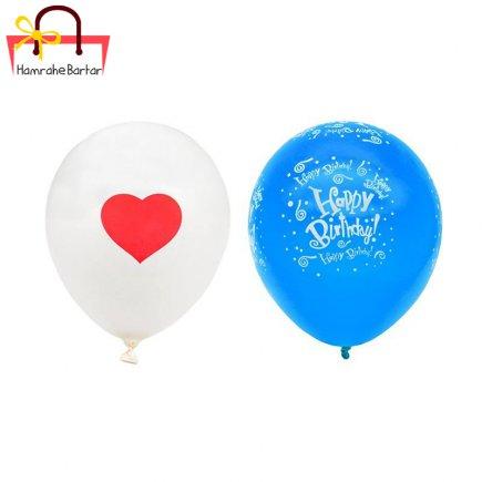 بادکنک مدل Happy birth day 9 بسته 45 عددی