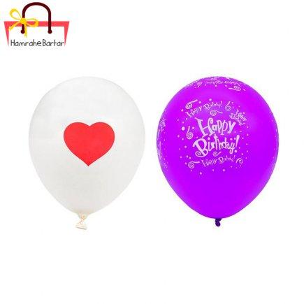بادکنک مدل Happy birth day 5 بسته 45 عددی