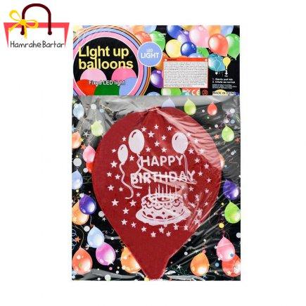 بادکنک چراغ دار مدل Happy birthday