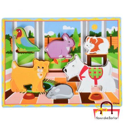 بازی آموزشی طرح حیوانات خانگی کد 9207