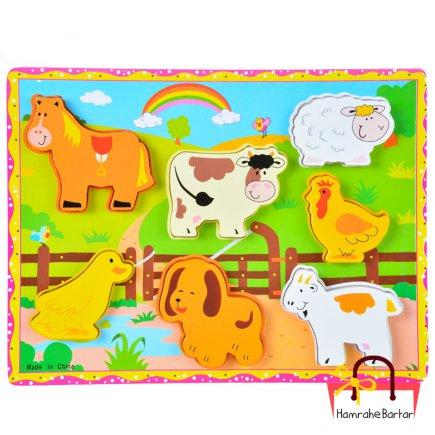 بازی آموزشی طرح حیوانات روستا کد 9201