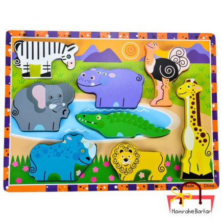 بازی آموزشی طرح حیوانات جنگل کد 9205