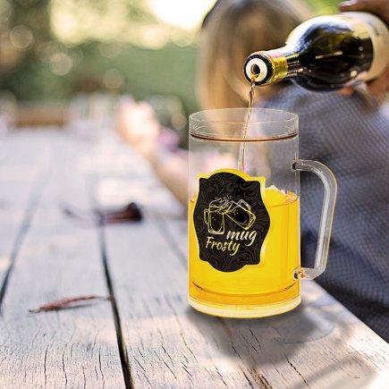 لیوان دوجداره طرح آبجو خوری