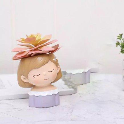 گلدان طرح دختر مهربان مدل GK01