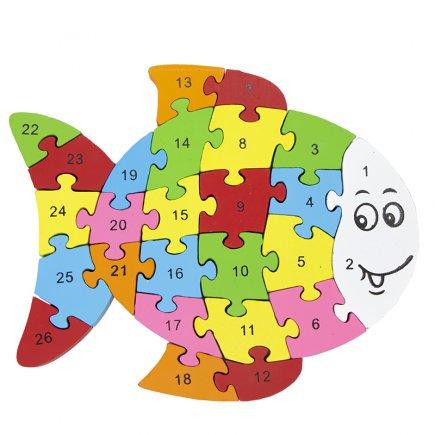 بازی آموزشی طرح اعداد و حروف انگلیسی مدل ماهی