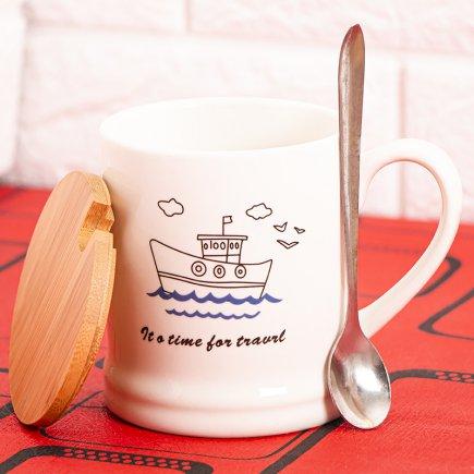 ماگ طرح قایق در چوبی کد 4559