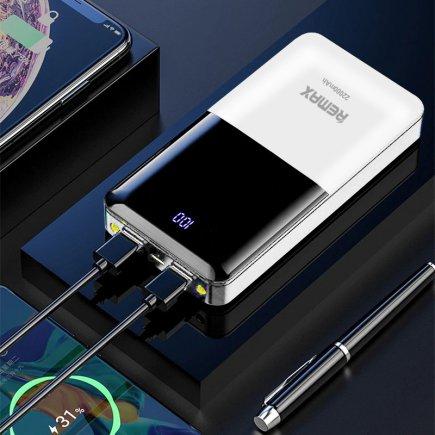 شارژر همراه  ظرفیت 22000 میلی آمپر ساعت  مدل ریمکس کد 5017