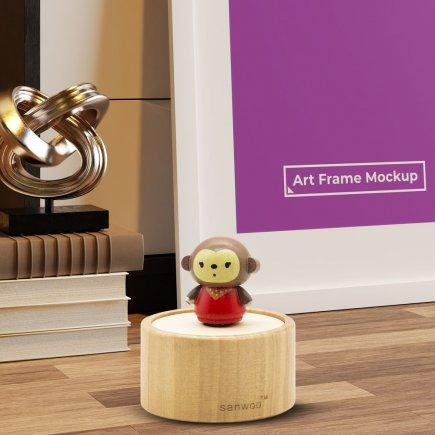 جعبه موزیکال چوبی طرح میمون کد 5022