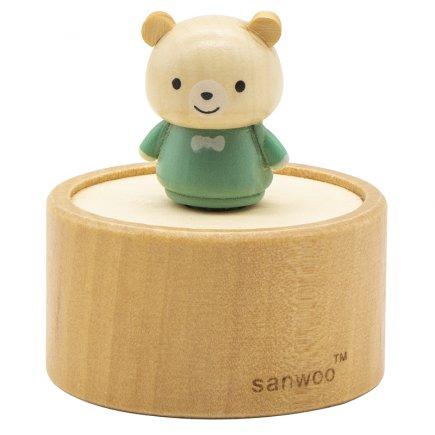 جعبه موزیکال چوبی طرح خرس کد 5023