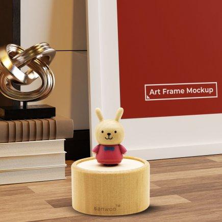 جعبه موزیکال چوبی طرح خرگوش کد5025