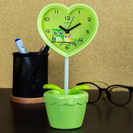 ساعت زنگ دار طرح گلدان کد 5298
