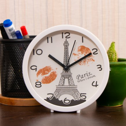 ساعت زنگ دار طرح پاریس کد 5305