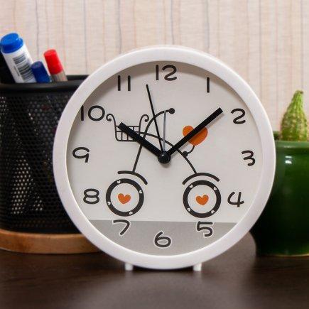 ساعت زنگ دار دایره طرح دوچرخه کد 5307