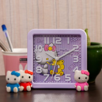 ساعت زنگی مدل HELLO KITTY کد 5311