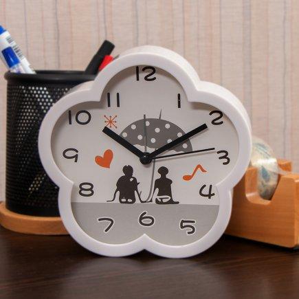 ساعت زنگ دار گل طرح عشاق کد 5315