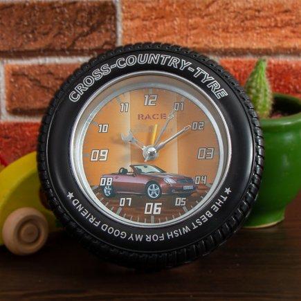 ساعت زنگ دار تایر طرح مرسدس کد 5317
