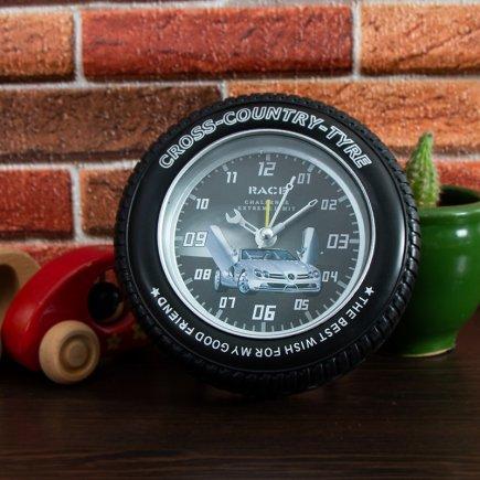 ساعت زنگ دار تایر طرح مرسدس کد 5321