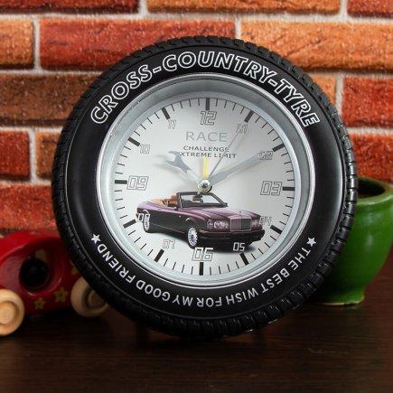 ساعت زنگ دار تایر بزرگ طرح مرسدس کد 5322