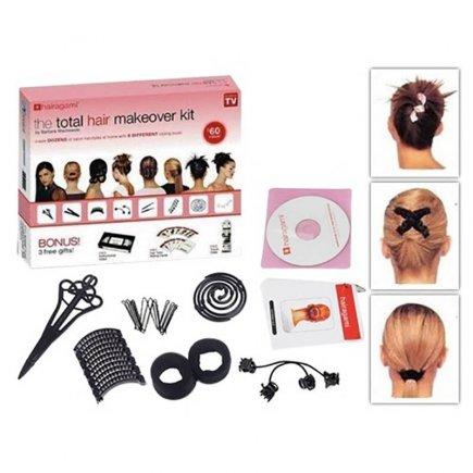 بسته گیره های شکل دهنده مو همراه با کارت و DVD آموزشی کد 5389