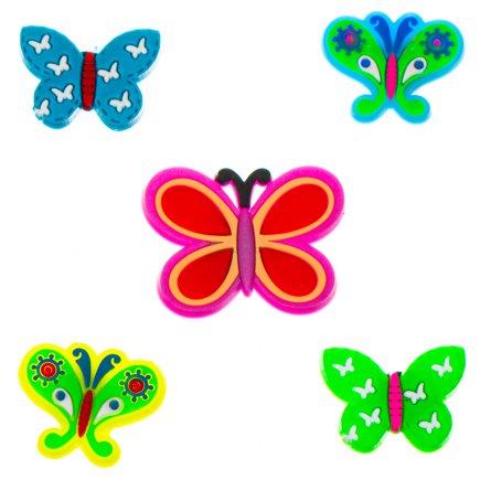 مگنت یخچال و سطوح فلزی طرح پروانه بسته 5 عددی کد 5488