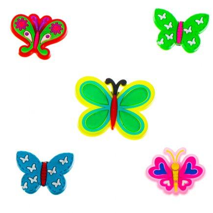 مگنت یخچال و سطوح فلزی طرح پروانه بسته 5 عددی کد 5501