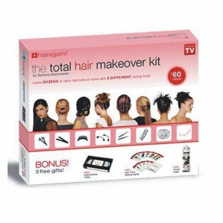ست شینیون مو کامل توتال هایر میک اوور The total hair makeover kit
