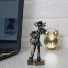مجسمه فلزی موزیسین مدل فنری کد 5744
