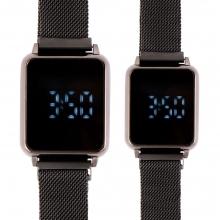 ست 2 عددی ساعت دیجیتال لمسی مردانه و زنانه کد 5839