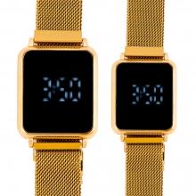 ست 2 عددی ساعت دیجیتال لمسی مردانه و زنانه کد 5840