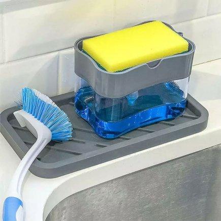 جا مایع ظرفشویی به همراه  اسکاچ